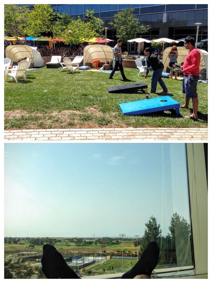 A summer at Google. I did some work, too — not pictured here.