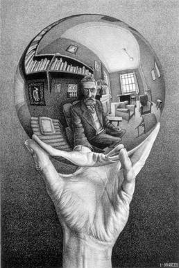 M.C. Escher — Hand with Reflecting Sphere.