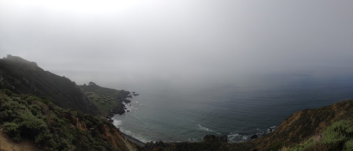 Pacific Coast Highway on the way to Point Reyes. 8 March 2015